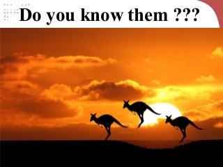 Australia - Tourist psychology