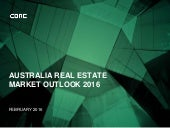 Australia Real Estate Market Outlook 2016