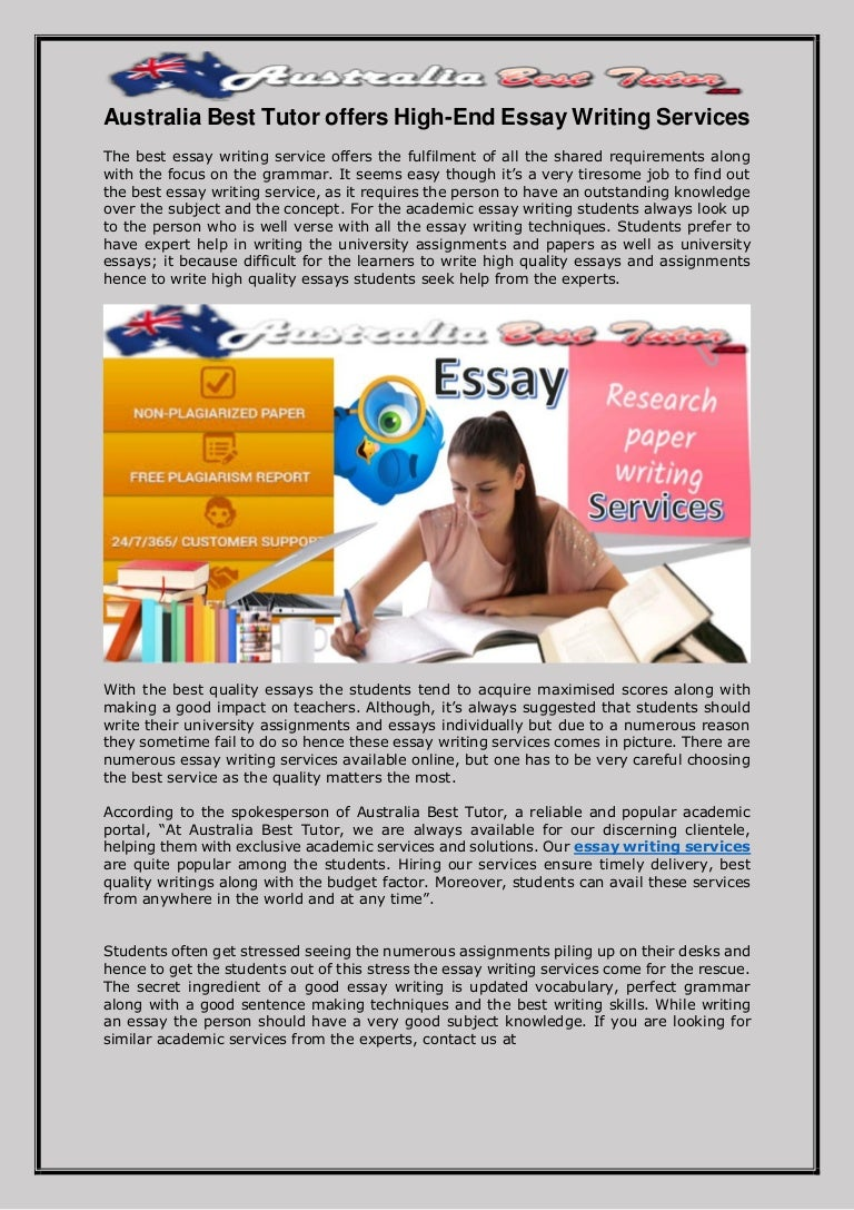 Australia Essay Writing