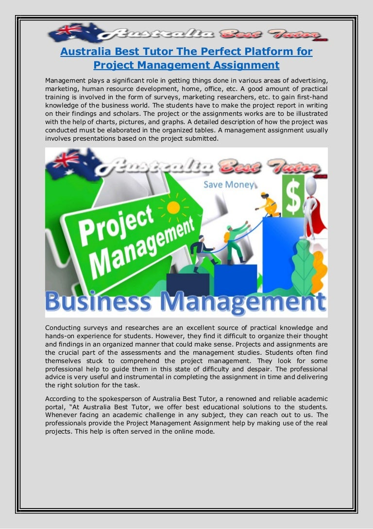 best tutor the perfect platform for project management assi