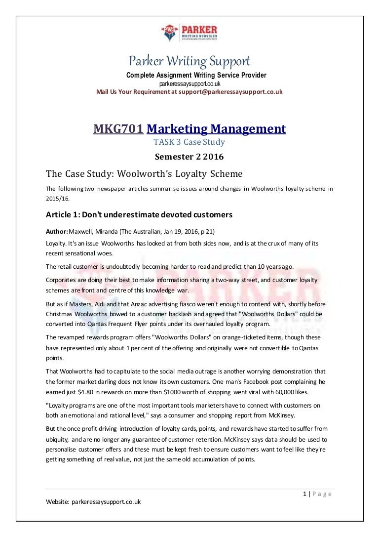 Assignment of marketing cost analysis
