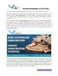 Australia Migration lucrative by immigration overseas