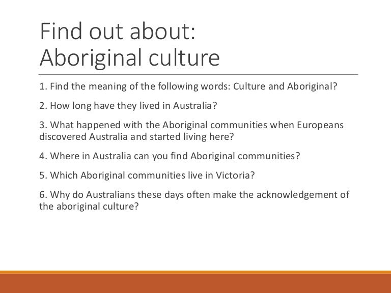 Australian Indigenous Culture 2017