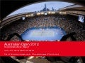 Social Media Buzz Report Australian Open 2012