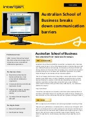 Australian School of Business (case study)