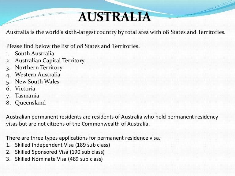 australian presentation