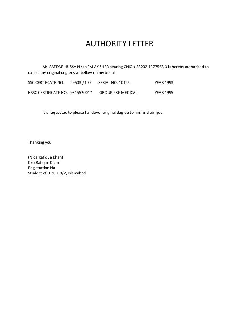 Authority letter for degrees thecheapjerseys Choice Image