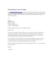Authorization letter for bank altavistaventures Images