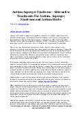 Autism asperger syndrome   alternative treatments for autism, asperger syndrome and autism herbs