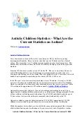 Autistic children statistics   what are the current statistics on autism
