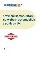 Srovnání konfigurátorů na webech automobilek z pohledu UX