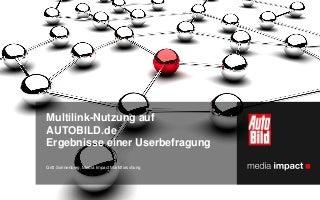 Multilink-Nutzung auf AUTOBILD.de – ein wichtiger Touchpoint für Pkw-Hersteller