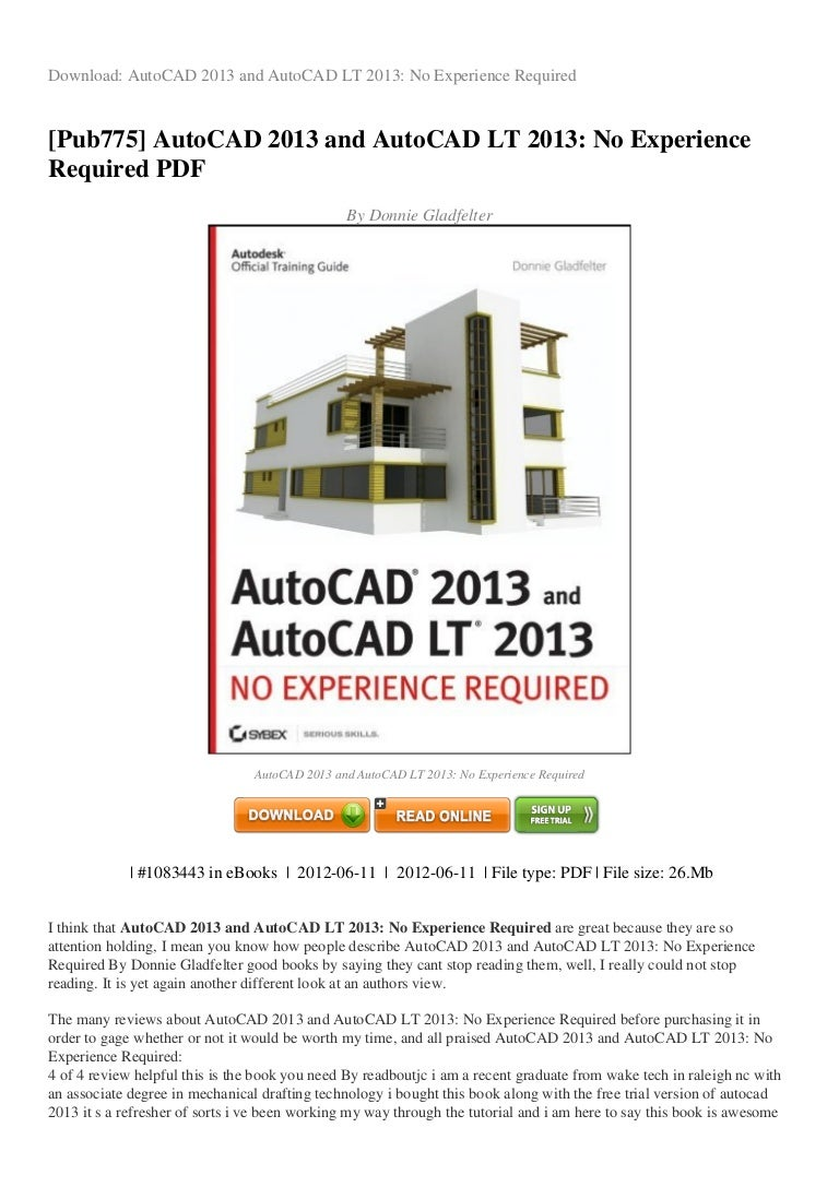 Review autocad 2013 and autocad lt 2013 no experience required pdf 2c baditri Image collections