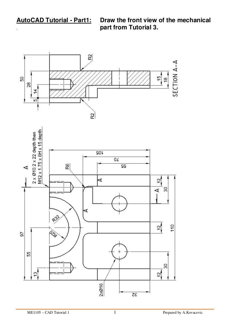 auto cad tutorial rh slideshare net 2d autocad tutorials for beginners autocad 2d manual pdf free download