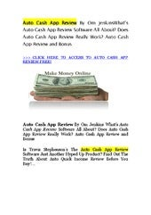 Auto Cash App best trading system By Tom Jenkins