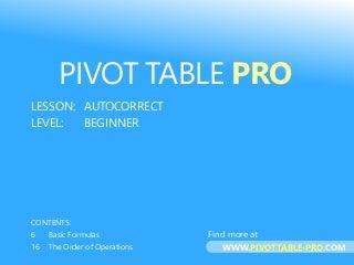 AutoCorrect - Excel 2013 Tutorial