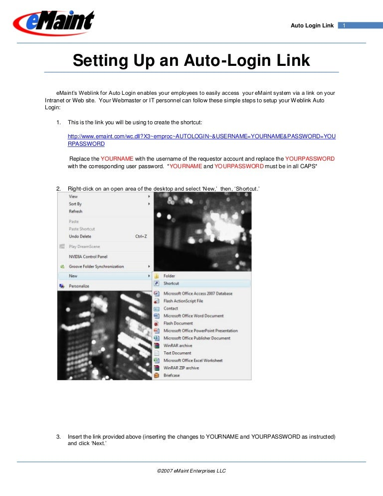 Autologin Link