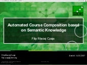 Automated Course Composition based on Semantic Knowledge