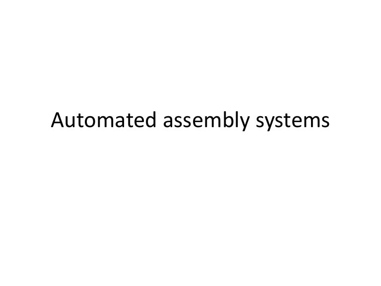 Assembly Automation And Product Design Pdf