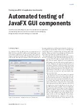 Automated testing of JavaFX GUI components