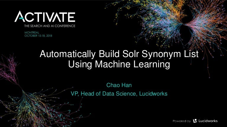 Automatically Build Solr Synonyms List using Machine