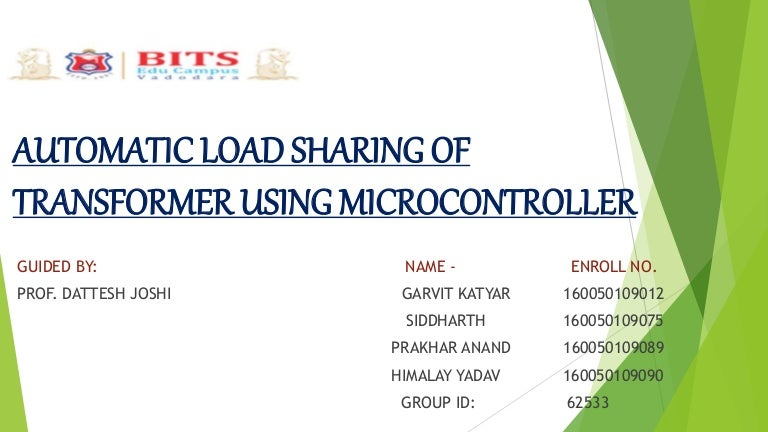 Automatic Load Sharing Of Transformer Using Microcontroller
