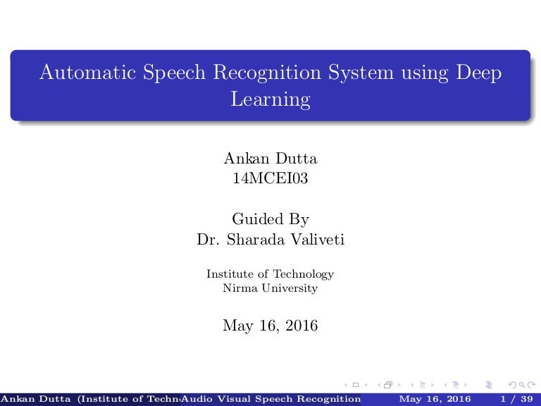 speech recognition technologies essay 2004/06/18 this paper develops a conceptual framework and offers research propositions for understanding the adoption of speech-recognition technology, drawing from rogers's work on the diffusion of innovation, from interview findings, and from case study analysis.