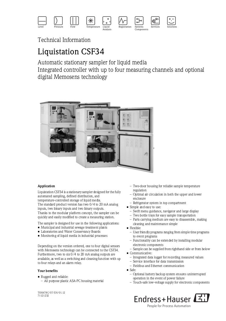 Automatic Stationary Sampler Liquistation Csf34 Analog Temperature Controller 8211 Relay