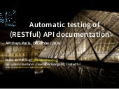 API Days Paris - Automatic Testing of (RESTful) API Documentation