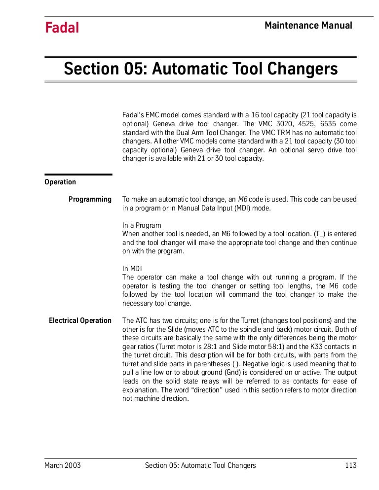 Automatic Tool Changers 2rhslideshare: Fadal Wiring Diagram Spindle Drives At Elf-jo.com