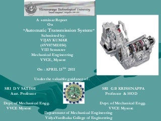 Automatic transmission system ppt
