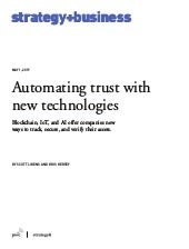 Automating trust with new technologies