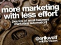 More Marketing With Less Effort - Erik Wolf - WordCamp Atlanta 2013