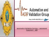 ADB Consulting Presents Automation and Validation Services in Florida USA