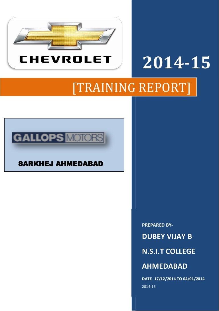 Automobile training reportGALLOPS MOTORS0 – Training Report