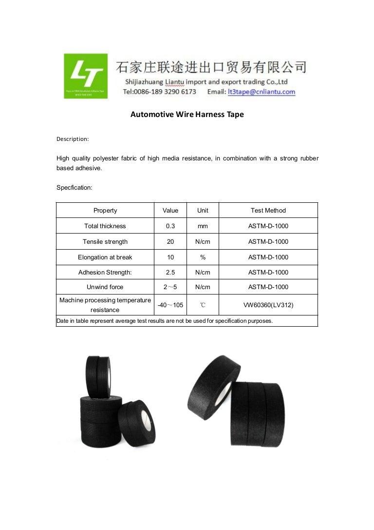 Automotive Wire Harness Tape Wiring Automotivewireharnesstape 180410061826 Thumbnail 4cb1523341234