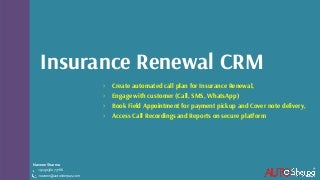 CRM for Insurance Renewals