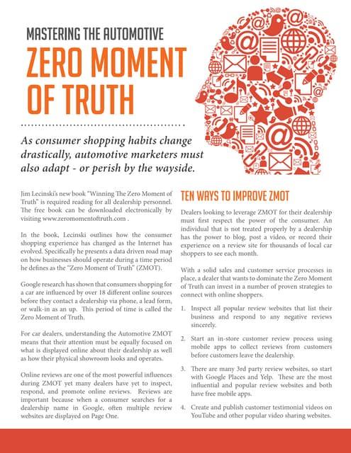Mastering The Automotive Zero Moment of Truth