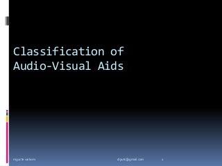 audio visual aids presentation 2012