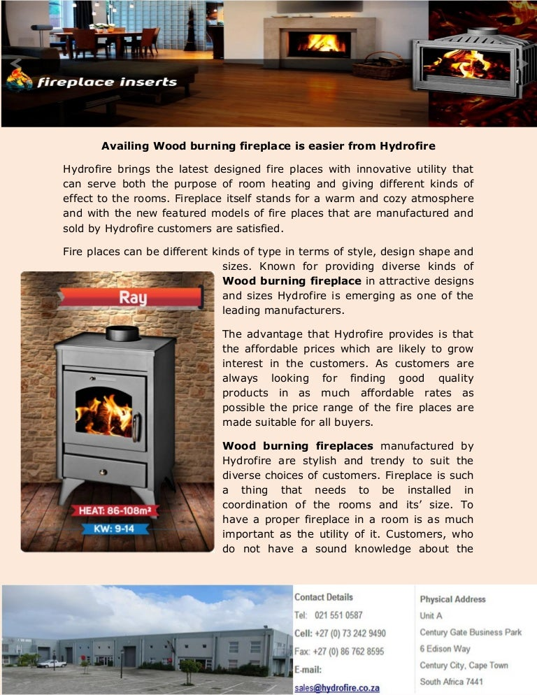 Availing Wood Burning Fireplace Is Easier From Hydrofire