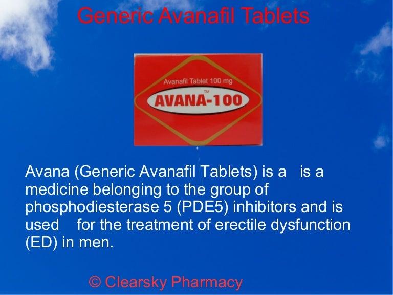 Generic Avana Online Pharmacy