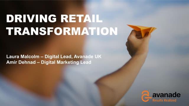 Sitecore & Microsoft Breakfast: Driving Retail Transformation - Avanade