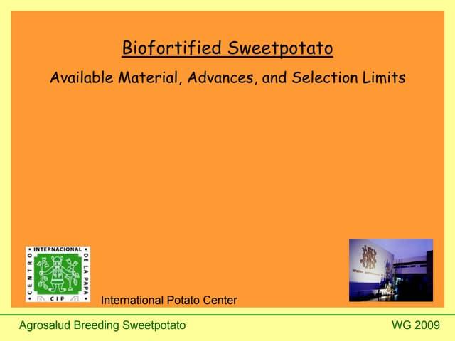 Biofortified Sweetpotato