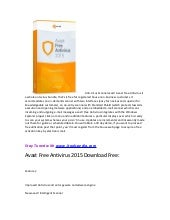 Avast free antivirus 2015 download free by itoolspedia.com