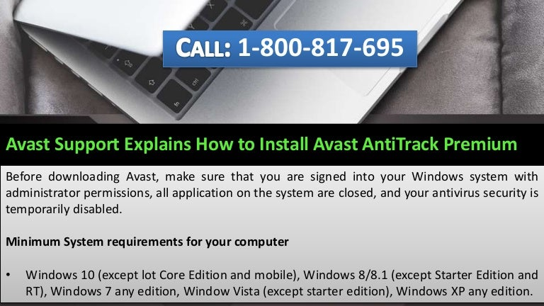 how to install avast antivirus in laptop