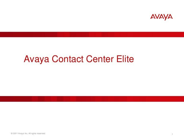 Avaya Aura Contact Center Elite