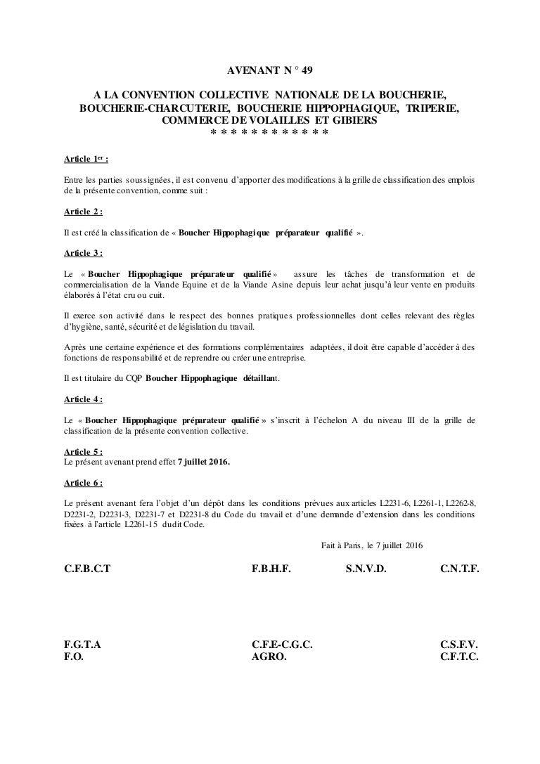 Idcc 992 Avenant 49 Cqp Preparateur