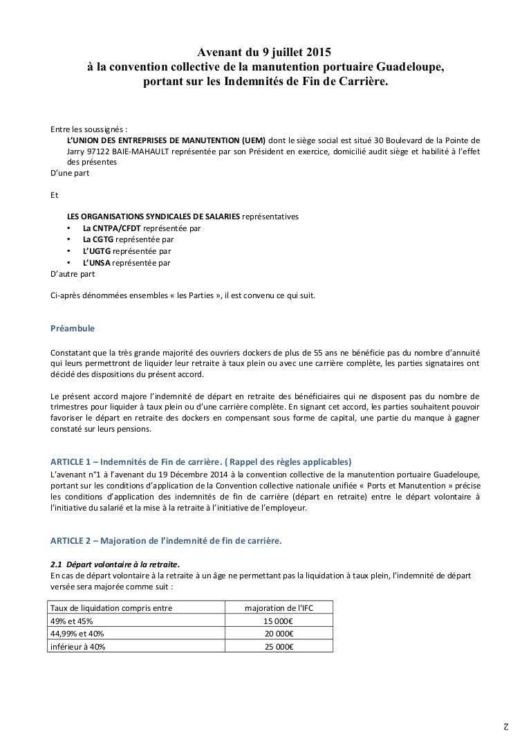 Idcc 1923 Indemnites De Fin De Carriere Dans La Cc De La Manutention