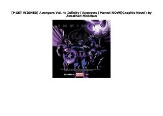 [MOST WISHED] Avengers Vol. 4: Infinity (Avengers (Marvel NOW!)Graphic Novel) by Jonathan Hickman