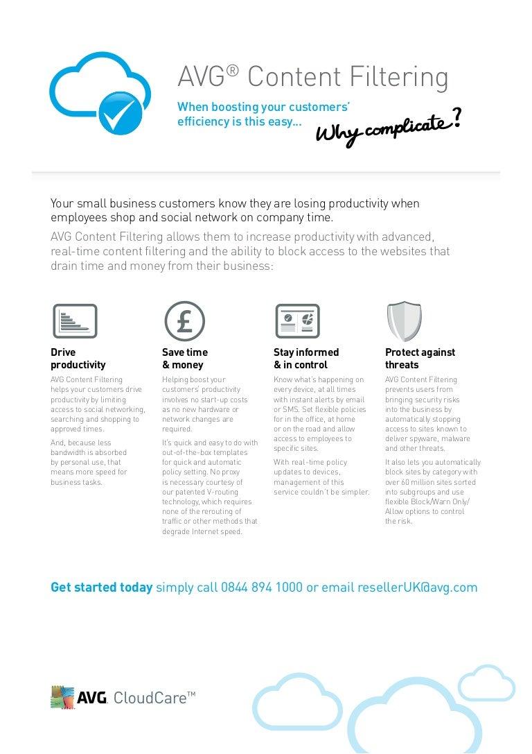 AVG CloudCare Content Filtering Fact Sheet